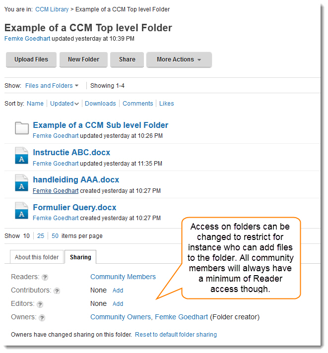 CCM folder